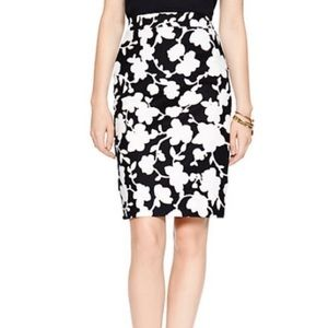 Kate Spade graphic floral Marit pencil skirt